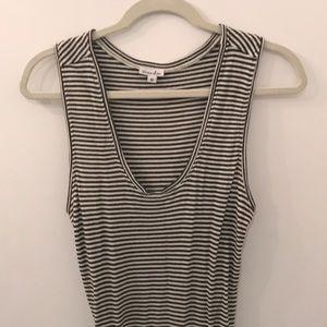 Steven Alan cotton striped midi dress